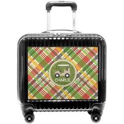 Golfer's Plaid Pilot / Flight Suitcase (Personalized)