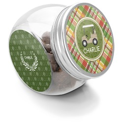 Golfer's Plaid Puppy Treat Jar (Personalized)