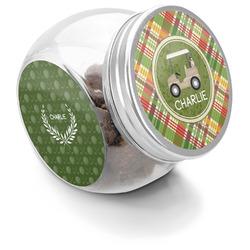 Golfer's Plaid Puppy Treat Jar (Personalized)