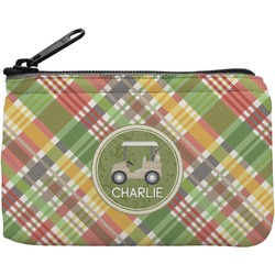 Golfer's Plaid Rectangular Coin Purse (Personalized)