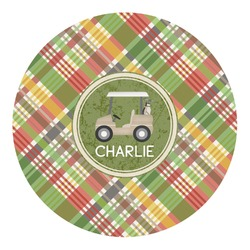 Golfer's Plaid Round Decal (Personalized)