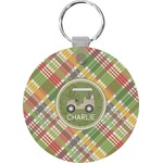 Golfer's Plaid Keychains - FRP (Personalized)
