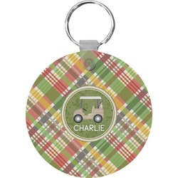 Golfer's Plaid Keychains - FRP (Personalized)