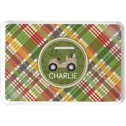 Golfer's Plaid Serving Tray (Personalized)
