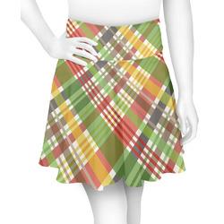 Golfer's Plaid Skater Skirt (Personalized)