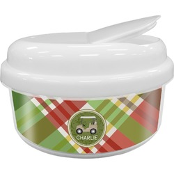 Golfer's Plaid Snack Container (Personalized)