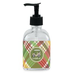 Golfer's Plaid Soap/Lotion Dispenser (Glass) (Personalized)