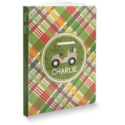 "Golfer's Plaid Softbound Notebook - 5.75"" x 8"" (Personalized)"