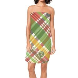 Golfer's Plaid Spa / Bath Wrap (Personalized)