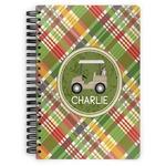 Golfer's Plaid Spiral Bound Notebook (Personalized)