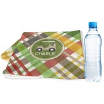 Golfer's Plaid Sports & Fitness Towel (Personalized)