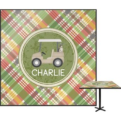 """Golfer's Plaid Square Table Top - 24"""" (Personalized)"""