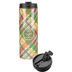 Golfer's Plaid Stainless Steel Tumbler (Personalized)