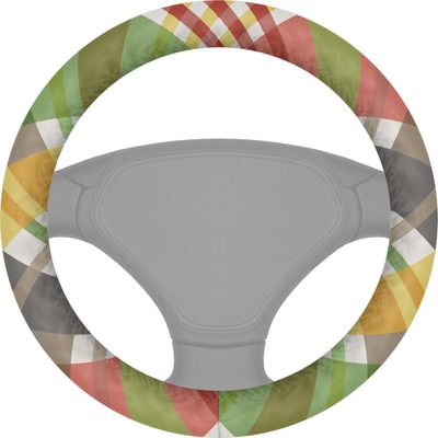 Golfer's Plaid Steering Wheel Cover (Personalized)