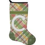 Golfer's Plaid Christmas Stocking - Neoprene (Personalized)