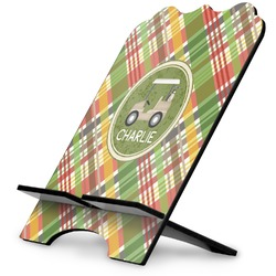 Golfer's Plaid Stylized Tablet Stand (Personalized)