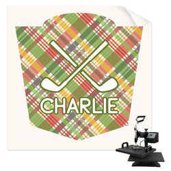 Golfer's Plaid Sublimation Transfer (Personalized)