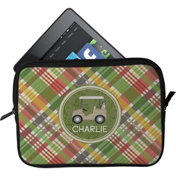 Golfer's Plaid Tablet Case / Sleeve (Personalized)