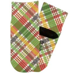 Golfer's Plaid Toddler Ankle Socks (Personalized)