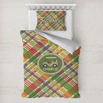 Golfer's Plaid Toddler Bedding w/ Name or Text