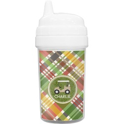 Golfer's Plaid Toddler Sippy Cup (Personalized)
