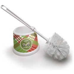 Golfer's Plaid Toilet Brush (Personalized)