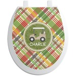 Golfer's Plaid Toilet Seat Decal (Personalized)