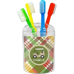 Golfer's Plaid Toothbrush Holder (Personalized)