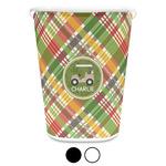 Golfer's Plaid Waste Basket (Personalized)