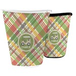 Golfer's Plaid Waste Basket (Personalized)