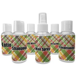 Golfer's Plaid Travel Bottles (Personalized)