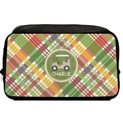 Golfer's Plaid Toiletry Bag / Dopp Kit (Personalized)