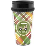 Golfer's Plaid Travel Mugs (Personalized)