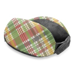 Golfer's Plaid Travel Neck Pillow (Personalized)