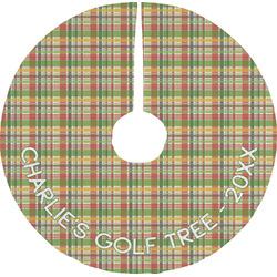 Golfer's Plaid Tree Skirt (Personalized)