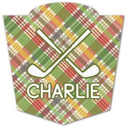 Golfer's Plaid Graphic Decal - Custom Sizes (Personalized)