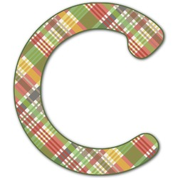 Golfer's Plaid Letter Decal - Large (Personalized)