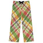 Golfer's Plaid Womens Pajama Pants (Personalized)