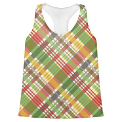 Golfer's Plaid Womens Racerback Tank Top (Personalized)