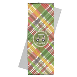 Golfer's Plaid Yoga Mat Towel (Personalized)