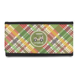 Golfer's Plaid Leatherette Ladies Wallet (Personalized)