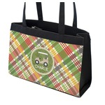 Golfer's Plaid Zippered Everyday Tote w/ Name or Text