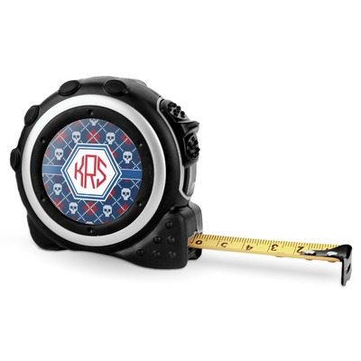 Knitted Argyle & Skulls Tape Measure - 16 Ft (Personalized)