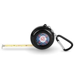 Knitted Argyle & Skulls Pocket Tape Measure - 6 Ft w/ Carabiner Clip (Personalized)