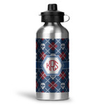 Knitted Argyle & Skulls Water Bottle - Aluminum - 20 oz (Personalized)