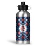 Knitted Argyle & Skulls Water Bottle - Aluminum - 20 oz (Personalized)