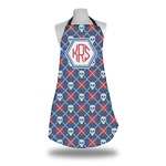 Knitted Argyle & Skulls Apron (Personalized)