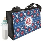 Knitted Argyle & Skulls Diaper Bag (Personalized)