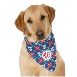 Knitted Argyle & Skulls Pet Bandanas (Personalized)