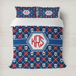 Knitted Argyle & Skulls Duvet Covers (Personalized)
